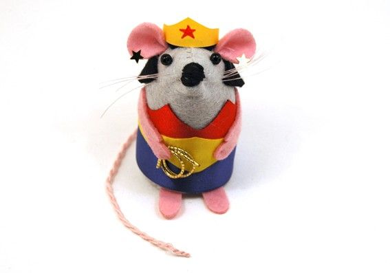 Wonder Woman Mouse Mothers Day Gift ornament by The House Of Mouse