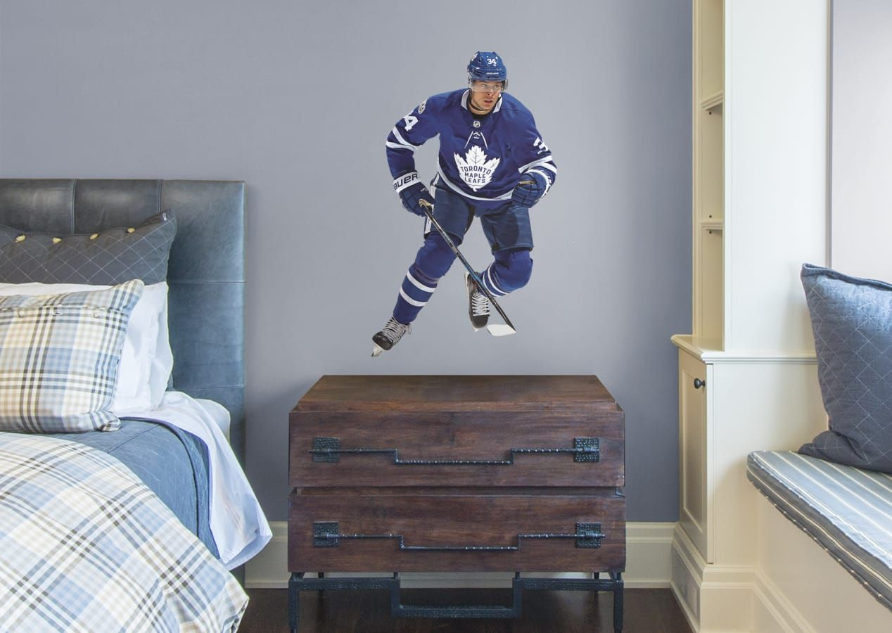 Boys Hockey Bedroom Auston Matthews Toronto Maple Leafs Sports Room Boys Boys Hockey Bedroom Hockey Bedroom