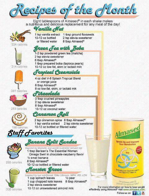almased diet food list