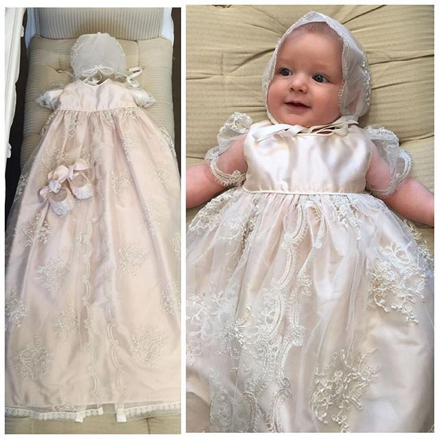 Baby baptism christening gowns for sweet baby-girls long vintage ...