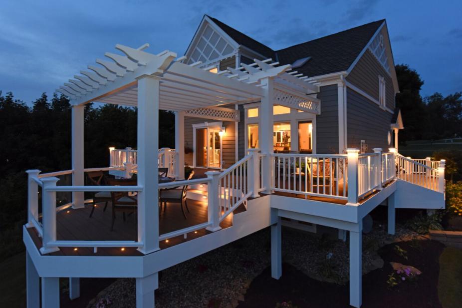 Add a warm glow to your azek deck with azeks outdoor deck and add a warm glow to your azek deck with azeks outdoor deck and porch lighting aloadofball Gallery