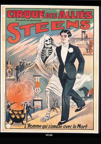 """STEENS . """"Cirque des Alliés présente en exclusivité Steens.L'Homme qui"""