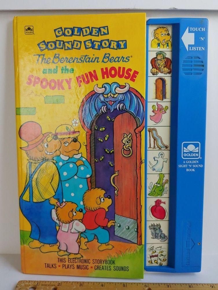 Vintage BERENSTAIN BEARS Spooky Fun House 1991 Golden Sound