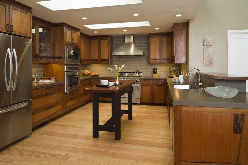 Fantastic U Shaped Kitchen with Narrow Island and ...