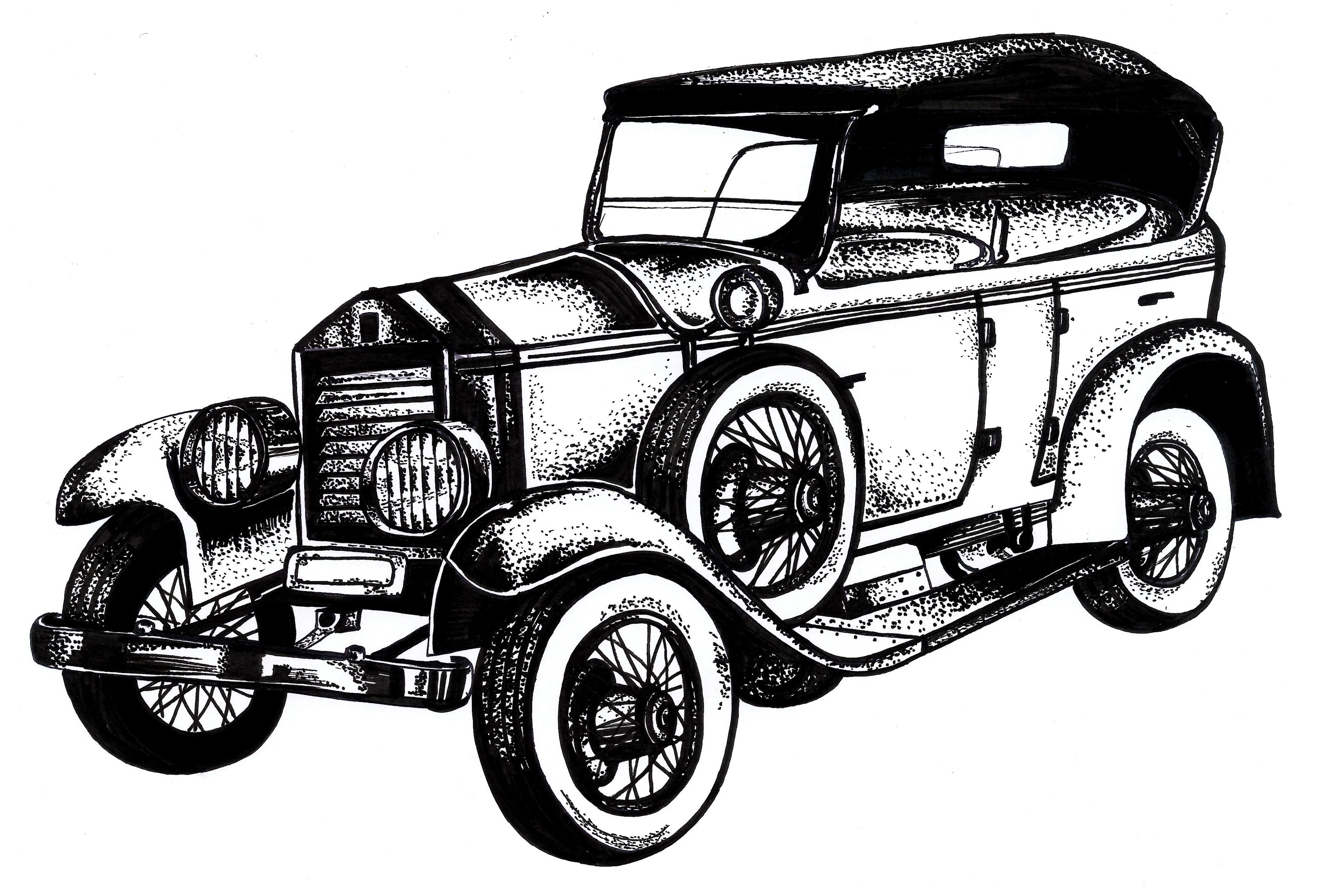 classic cars drawings images  u0026 pictures