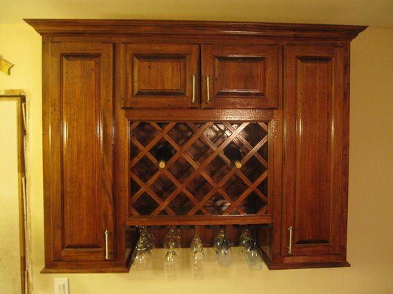 Wine Rack Cabinet Server Buffet Custom Built To Fit A Dinig