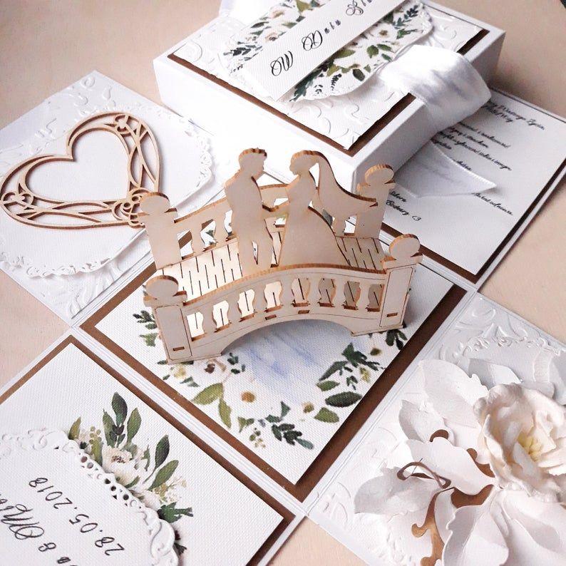 Explosionsbox Hochzeit Wedding Explosion Box Card Wedding Etsy In 2020 Card Box Unique Wedding Souvenirs Wedding Cards