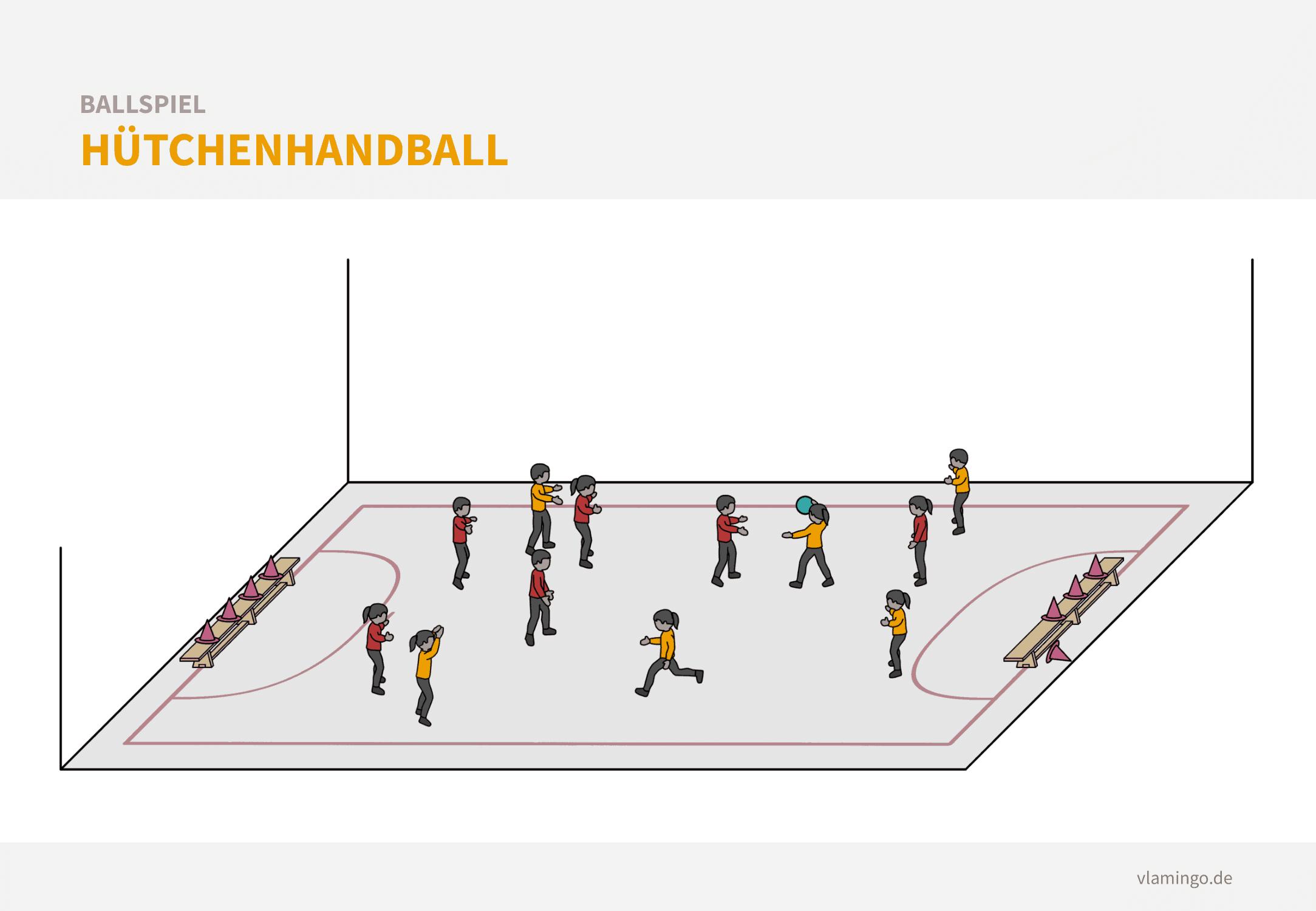 Aufwärmspiel Handball