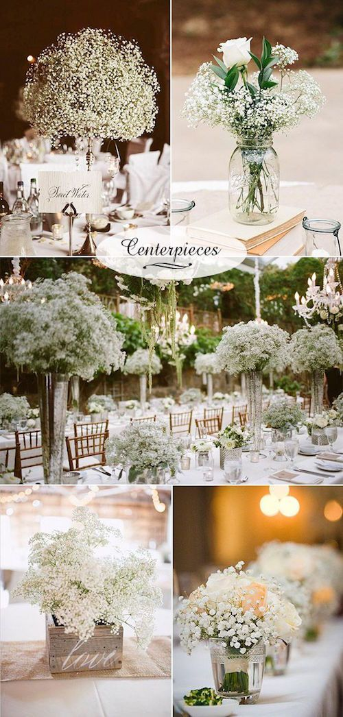 23 Babys Breath Wedding Decor Ideas Classy And Romantic