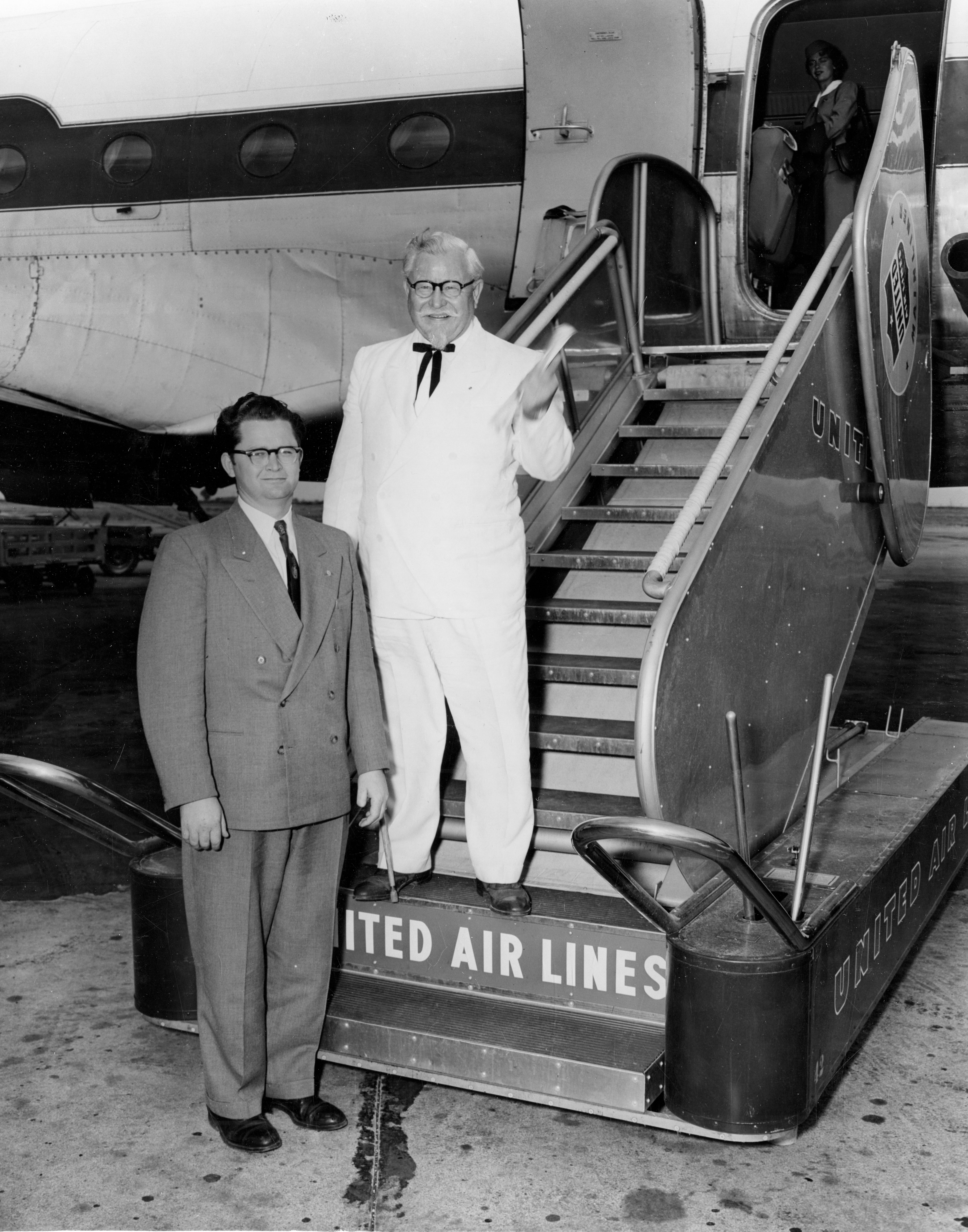 Pete Harman and Colonel Sanders at #SLC Airport, June 4, 1954. Pete ...