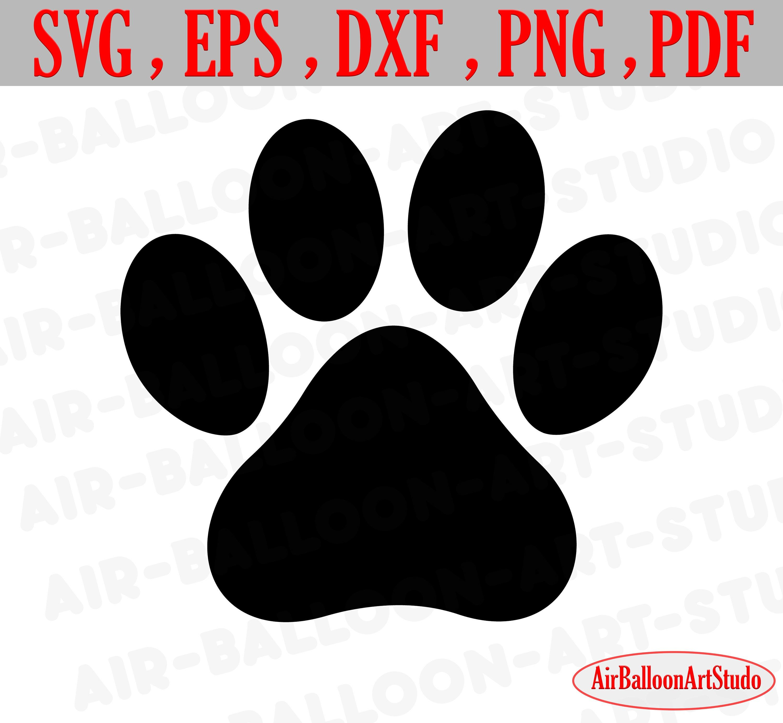 Paw Print Svg Bone Svg Paw Print Dog Paw Print Svg Dog