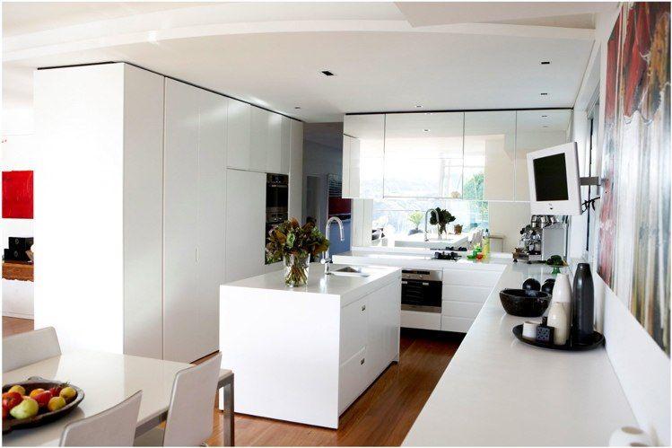 interesting idea - mirrored kitchen cabinets | Kitchen ...