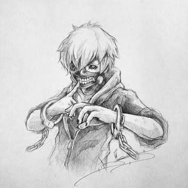 Resultado de imagen para dibujos de tokyo ghoul a lapiz  Tokyo