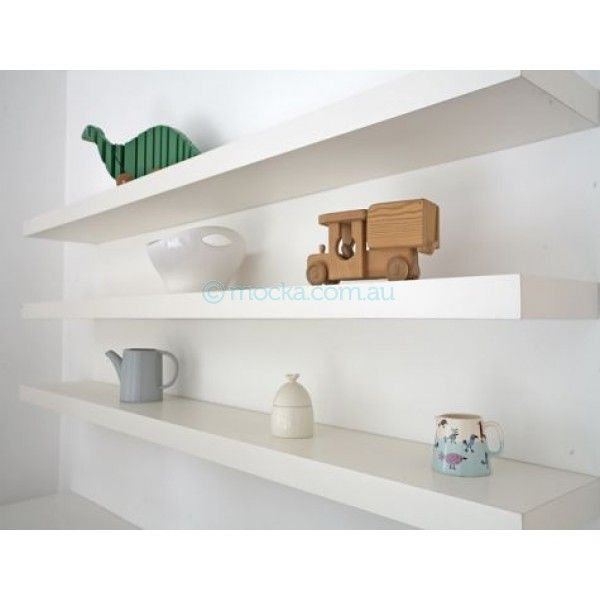 save off be24c f7b57 floating shelf natural or white 90cm wide x 25cm deep x 4cm ...