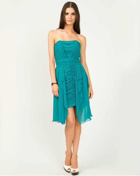 a38331a83e Chiffon High Low Hem Cocktail Dress - formal look in my favourite colour