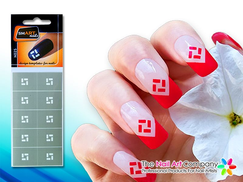 Smart Nails Square Nail Art Stencil Set N025 Nail Art Stencils