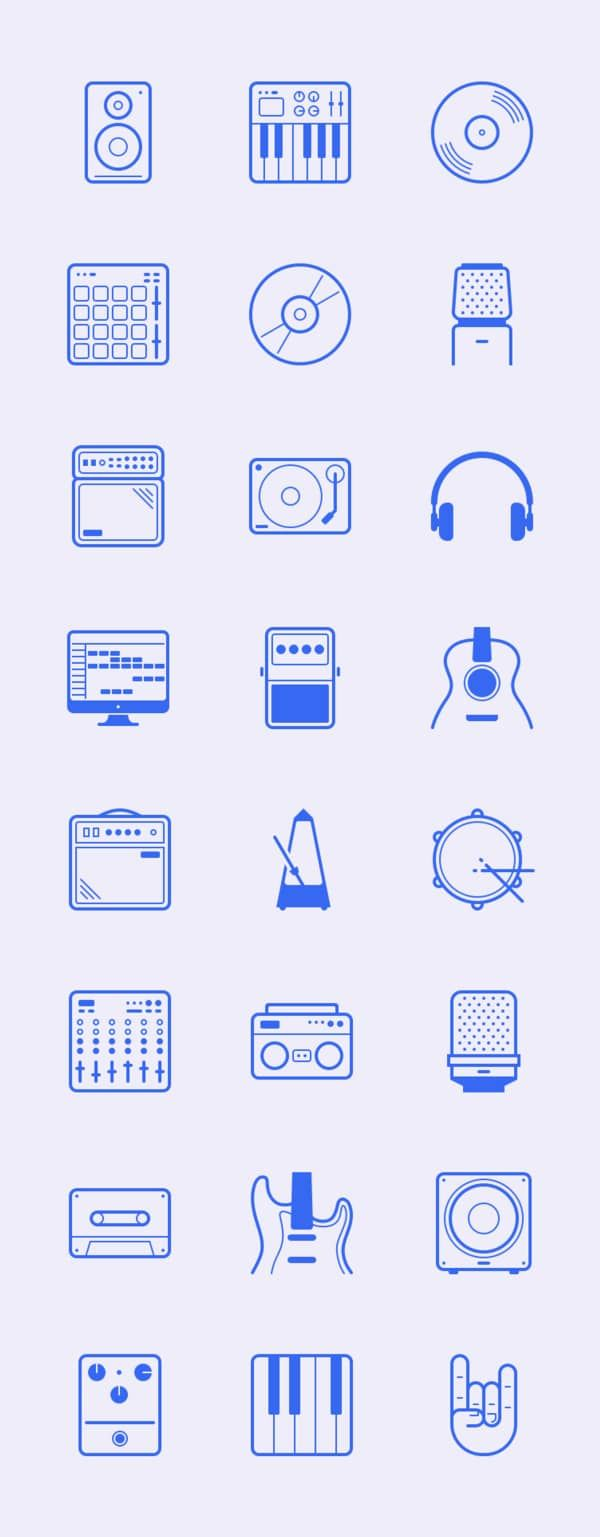 Les 40 Packs D Icones Gratuits Incontournables De 2016 Blog Tuto Com Icone Gratuit Pictogramme Symbole Musique