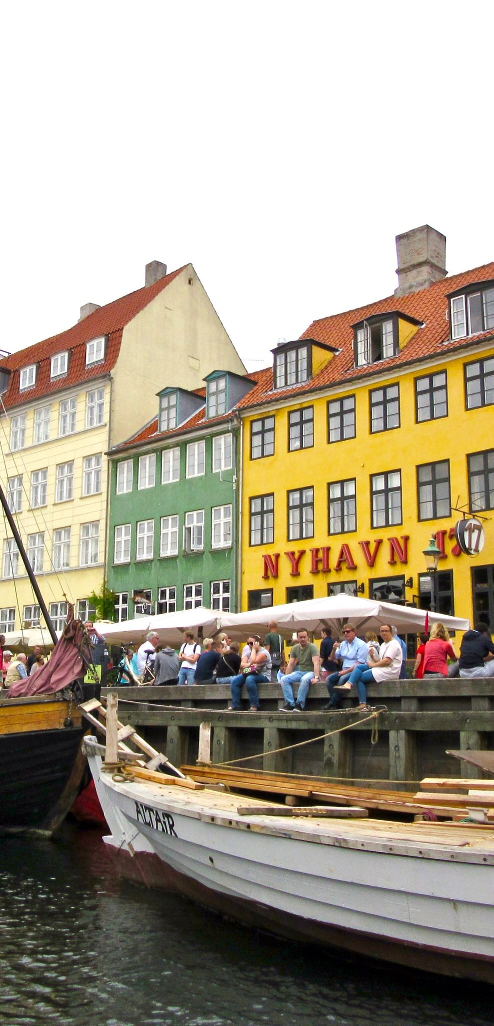 View From The Canal Tour Boat In Nyhavn Copenhagen Denmark