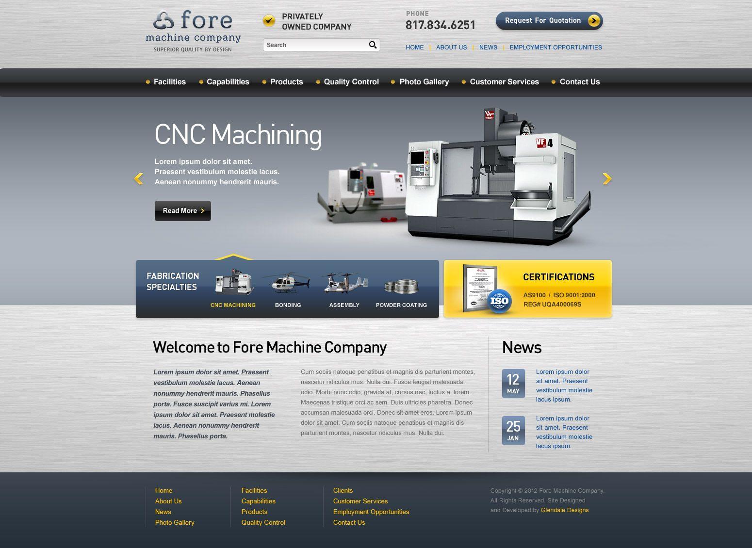 ForeMachine com - Design of Logo Business Identity, WordPress