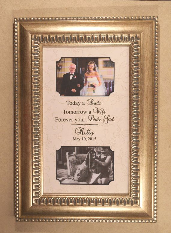 Father Wedding Gift  Personalized Wedding Gift by CanyonMeadows