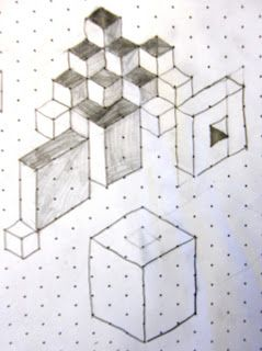 MathArt Made On Isometric Paper  ThTh Grade Lesson Ideas