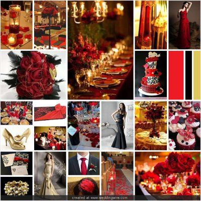 Wedding Inspirations Red Black And Gold Wedding Black Gold Wedding Red Wedding Theme Wedding