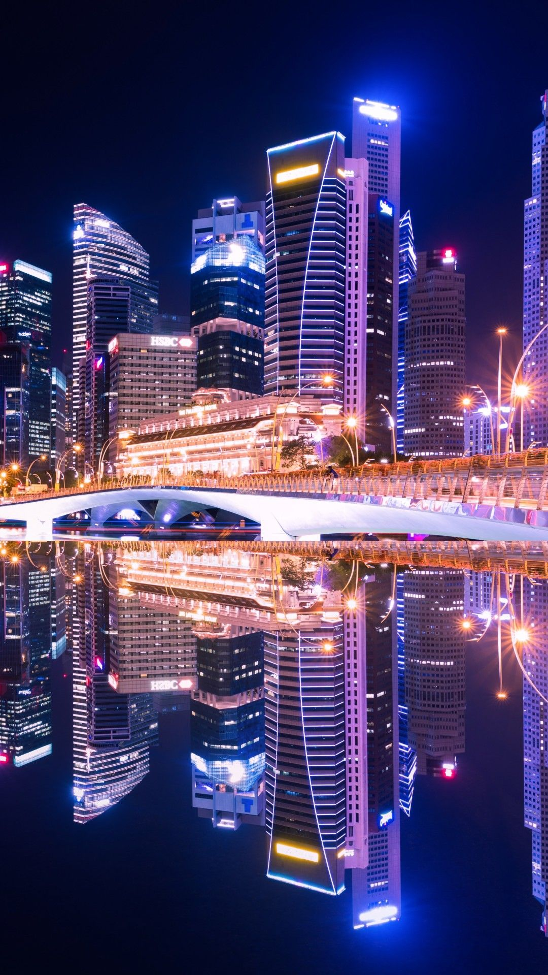 Singapore City Skyline 5k Mobile Wallpaper Iphone Android Samsung Pixel Xiaomi In 2020 City Lights Wallpaper City Aesthetic City Wallpaper