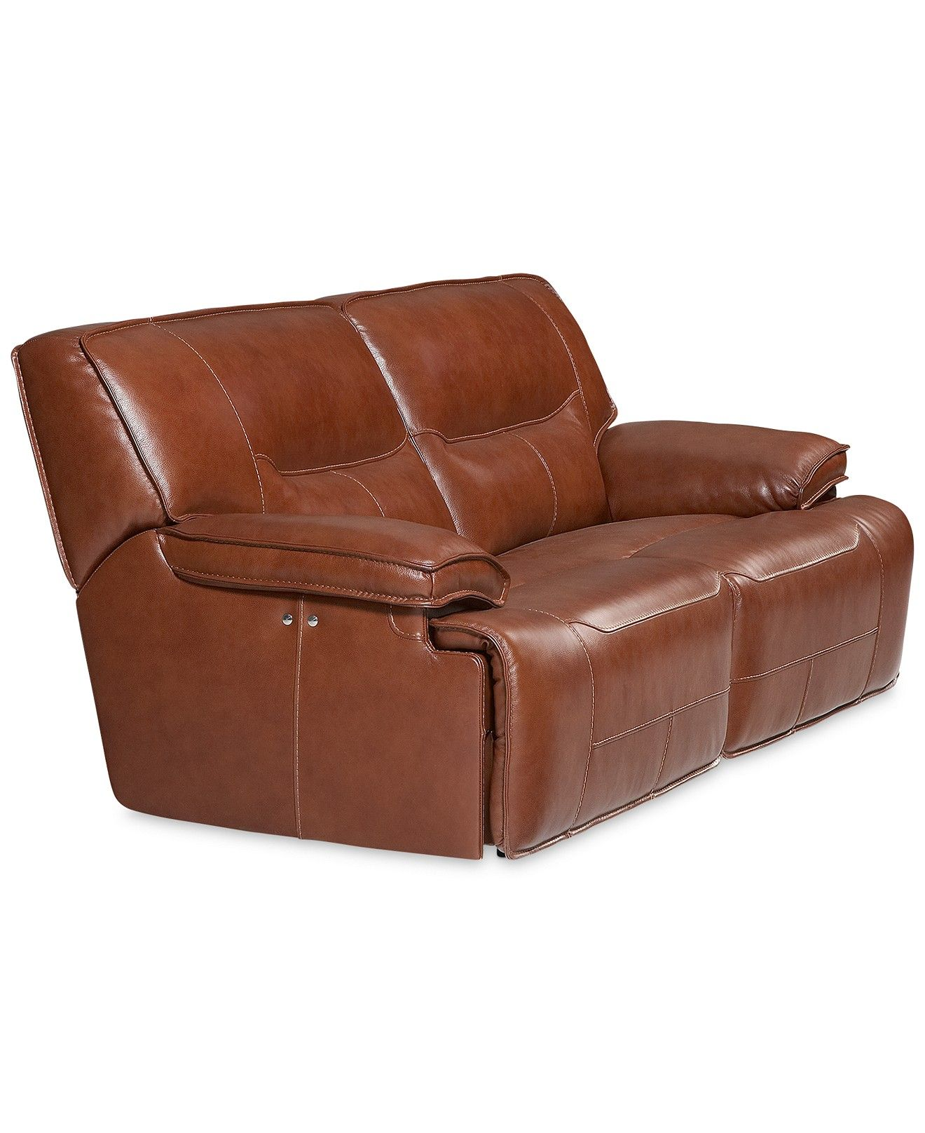 Beckett Leather 2 Piece Sectional Sofa with 2 Power Recliners