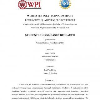 Worcester Polytechnic Institute Interactive Qualifying Project