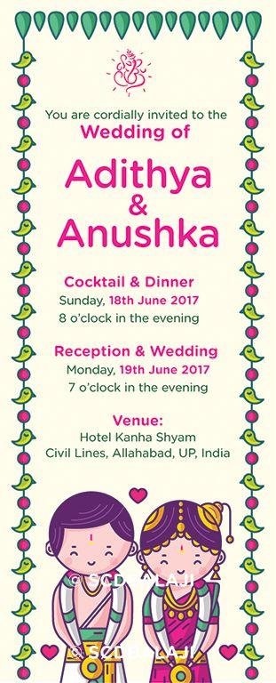 Tamil iyengar brahmin wedding invitation card design and tamil iyengar brahmin wedding invitation card design and illustration by scdbalaji stopboris Image collections