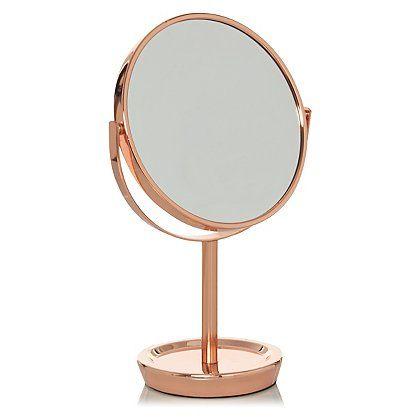 Copper Metal Mirror Home Garden George At Asda Mirrored Bedroom Furniture Desk Mirror Copper Bedroom