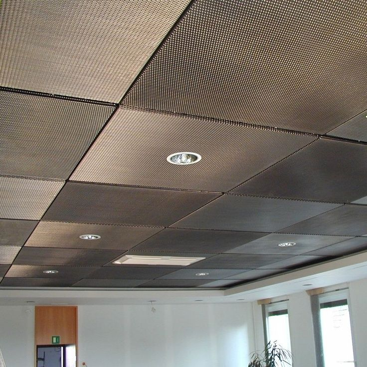 Captivating Drop Ceiling Tiles Painted With Metallic Aluminum Paint. Paint Tiles  Covered With A Thin Metal