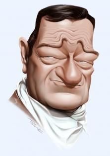 John Wayne by alex telve