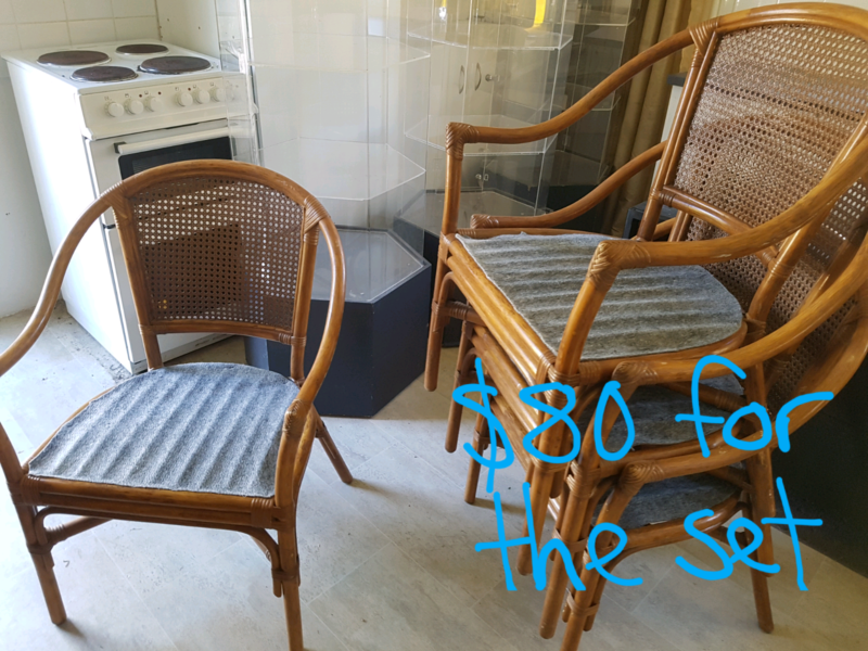 Set Of 4 Cane Retro Style Chairs | Other Furniture | Gumtree Australia Pine  Rivers Area