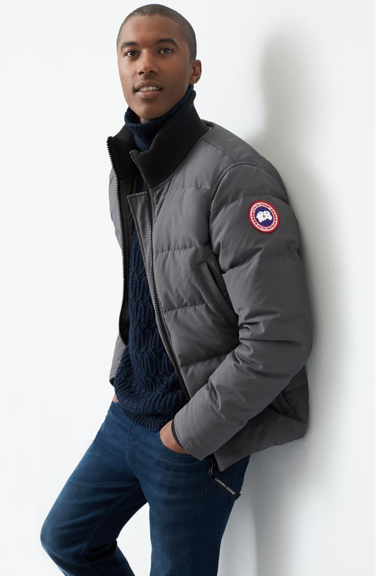 Canada Goose Woolford Slim Fit Down Bomber Jacket Nordstrom In 2021 Mens Puffer Jacket Canada Goose Mens Canada Goose [ 1164 x 760 Pixel ]