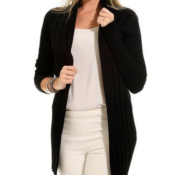 Black long cardigan woman knit cardigan sweater womens clothing ...