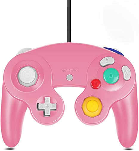 Amazon Com Gamecube Controller Classic Wired Controller For Wii Nintendo Gamecube Pink Electronics In 2021 Gamecube Controller Gamecube Wii