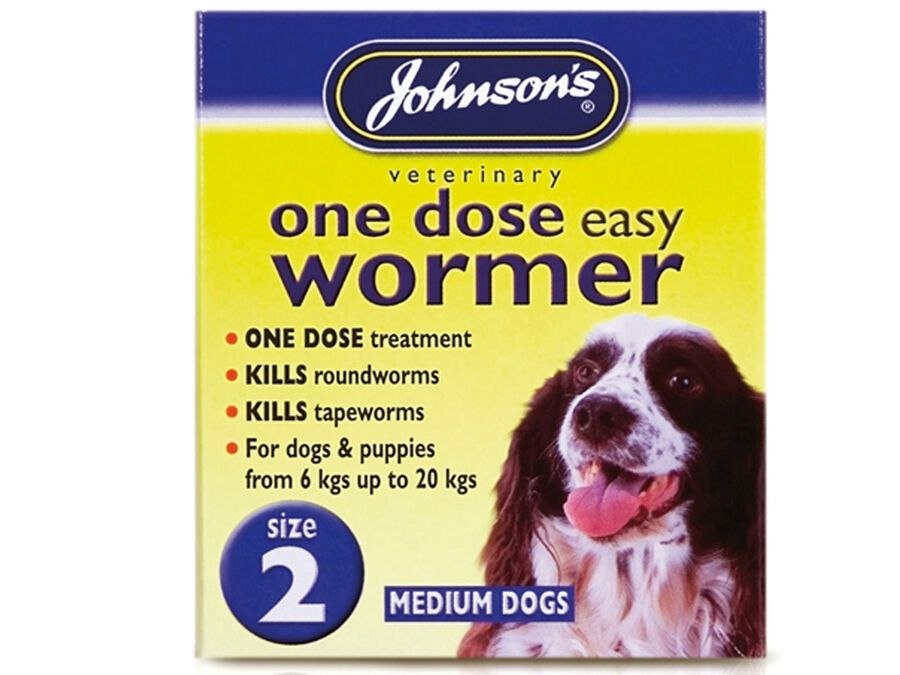 Johnsons One Dose Easy Wormer Dog Worm Worming Tablets Roundworm