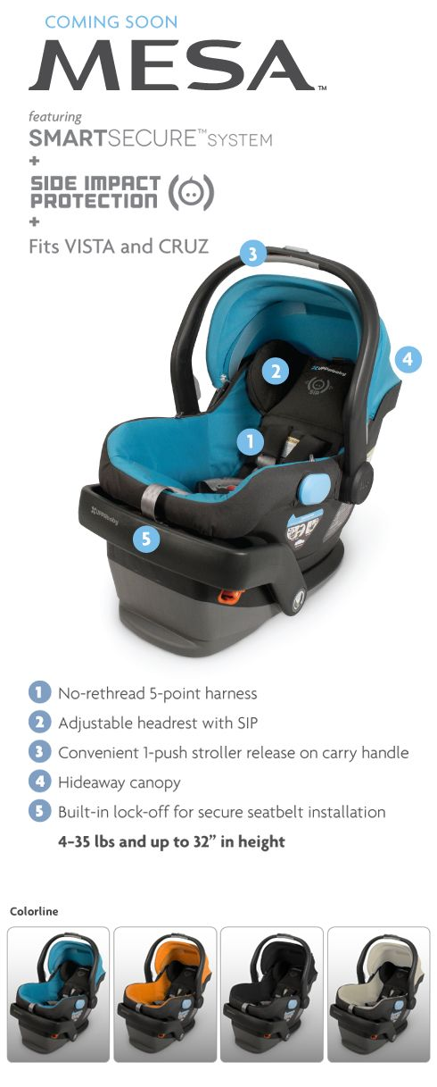 Uppababy MESA Infant Car Seat For The Stroller In Black