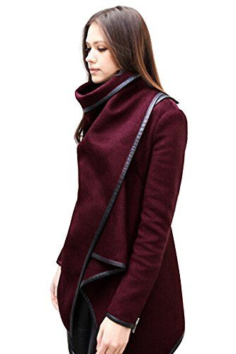 Babyonline Long sleeve women lapel Jacket Solid Wool Blends Long Trench Coats List Price: $39.60 Buy New: $22.90