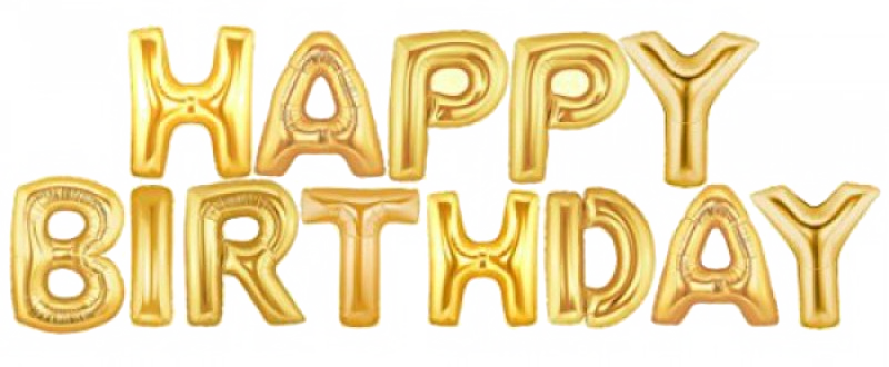 Happy Birthday Foil Balloon Png Transparent Images Png All Happy Birthday Foil Balloons Happy Birthday Balloon Banner Letter Balloons