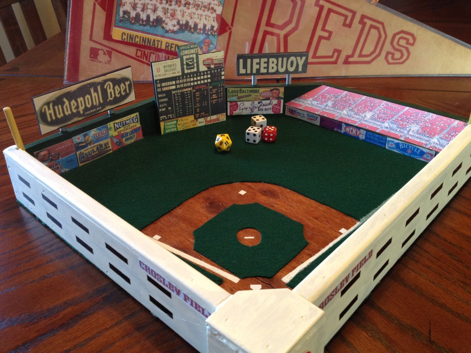 here is jeff s re creation of crosley field former home of the