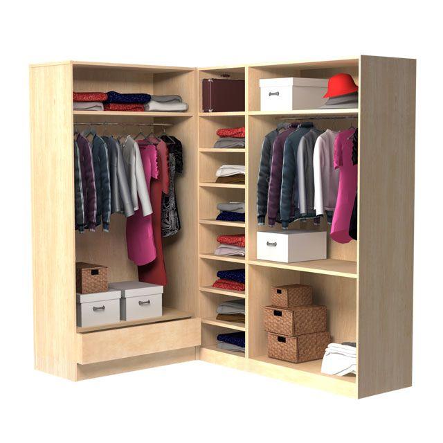 grand dressing ch ne concept darwin chambre lolo pinterest meuble pas cher pas cher et. Black Bedroom Furniture Sets. Home Design Ideas