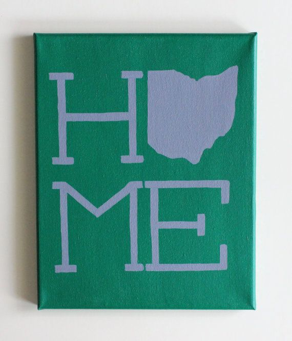 Ohio University, OU, Athens, Bobcats, Ohio Home, Canvas Painting, Canvas Art                                                                                                                                                      More