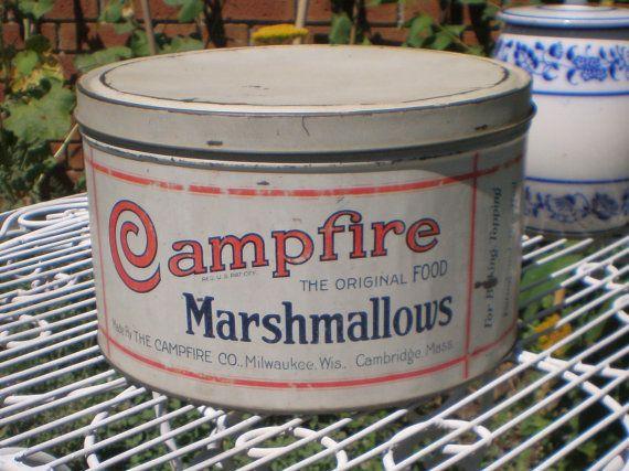 SUMMER SALEVintage Campfire Marshmallow by ChocolateMintCottage