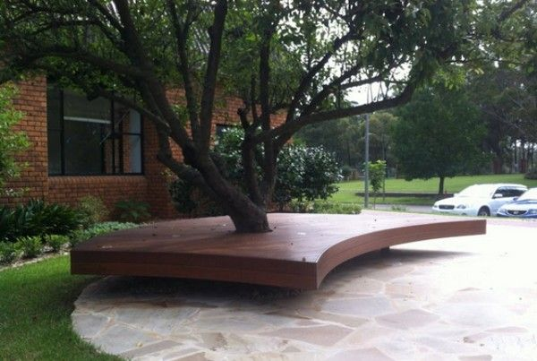 17 Wonderful Benches Around The Tree For Memorable Moments The Art In Life Deck Around Trees Landscaping Around Trees Floating Deck
