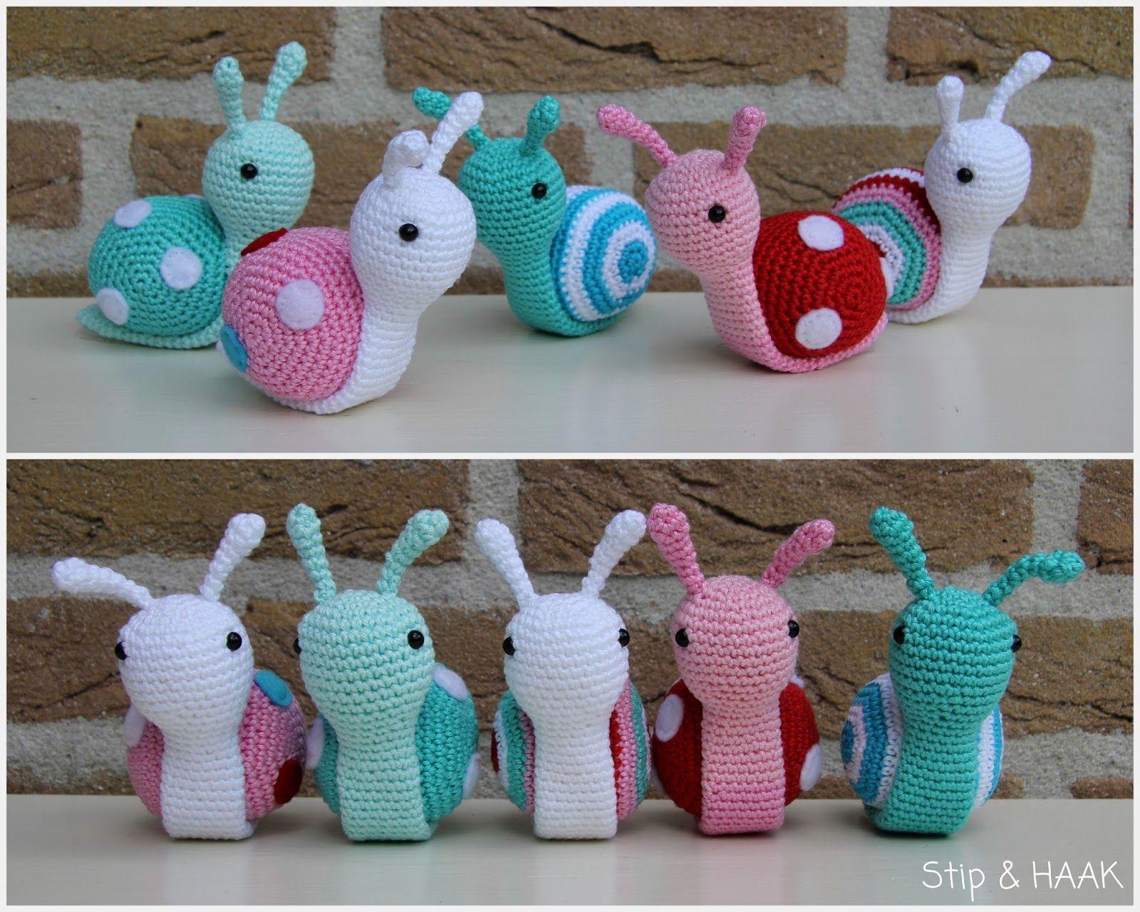 hight resolution of amigurumi snail free crochet pattern