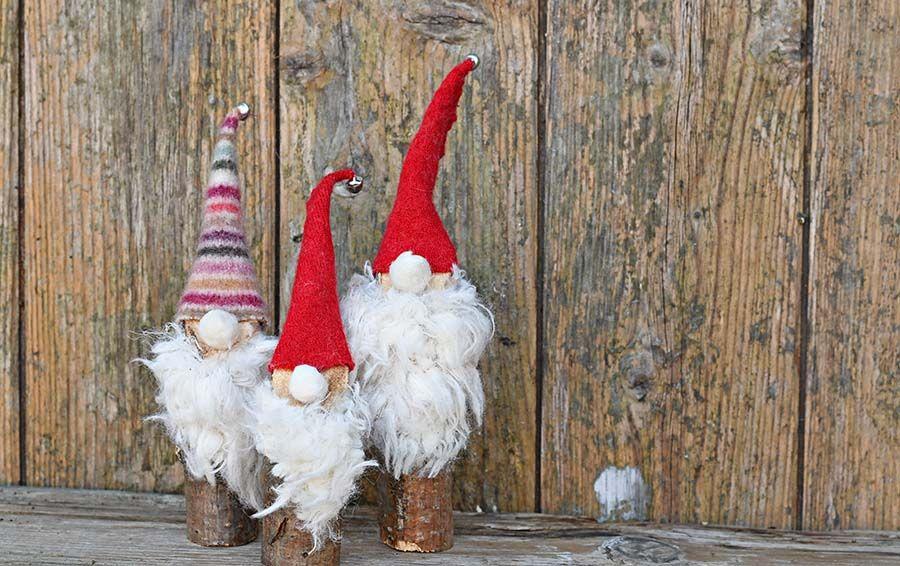 Super Easy to Make Cute Norwegian Christmas Gnomes