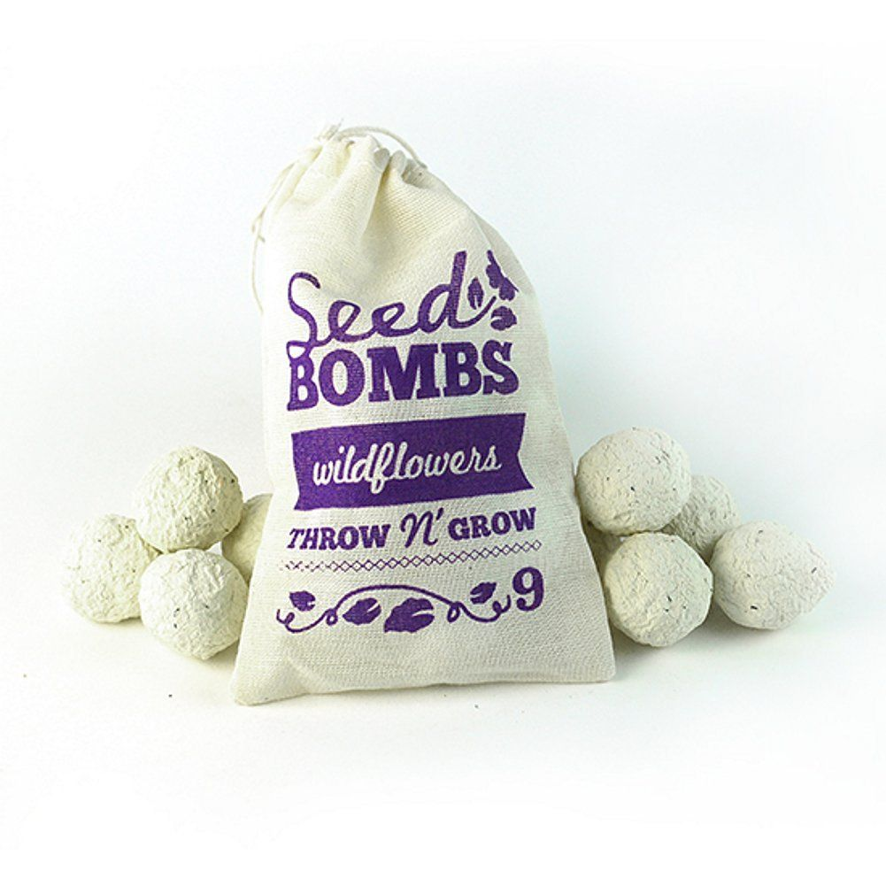 Amazon.com : Wildflowers Seed Bombs (Pack of 9) : Patio, Lawn ...