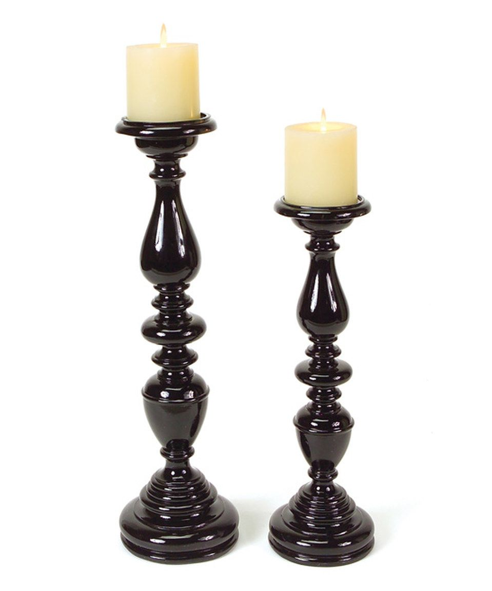 Another great find on zulily black candle holder set by melrose
